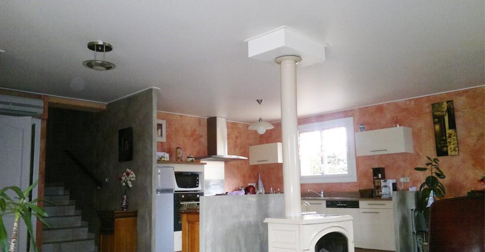 Dans la maison meunier plafond tendu lyon for Plafond tendu cuisine