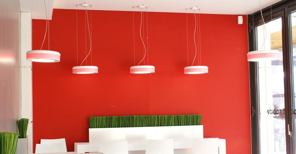 Mur décoratif coloré