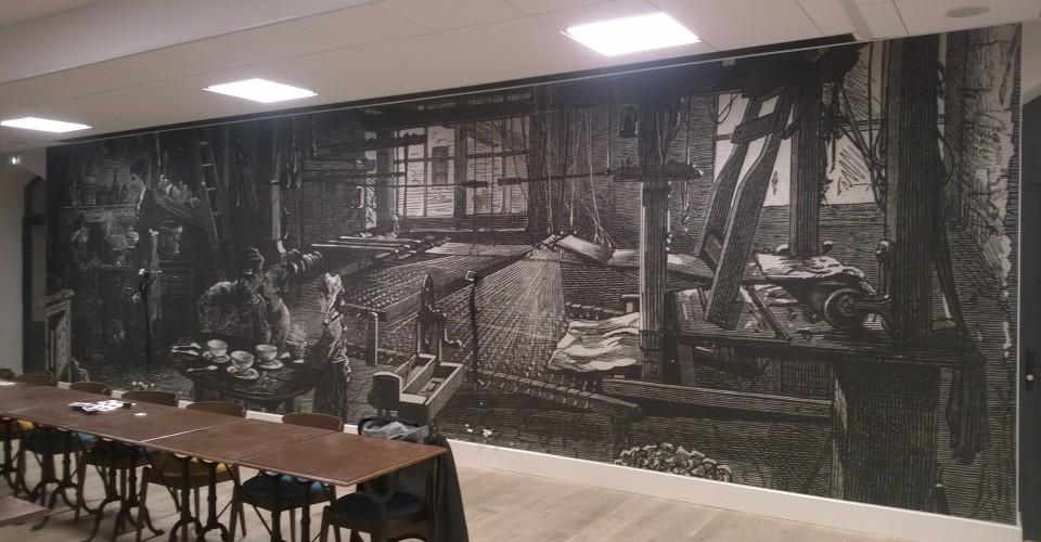 mur imprimé hôtel restaurant