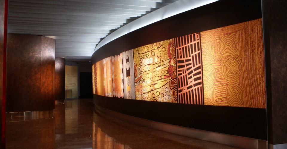 mur imprimé rétroéclairé