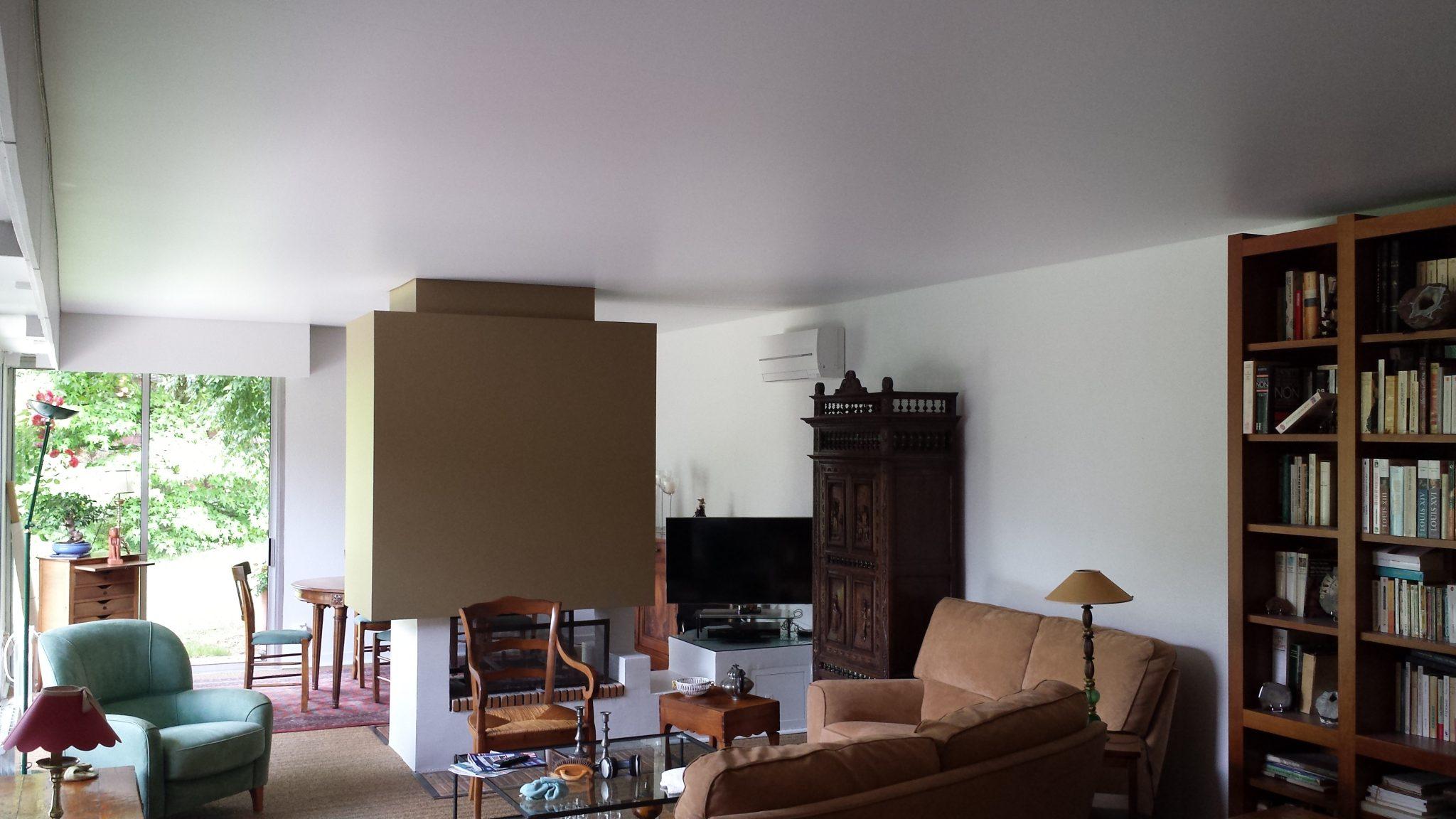 plafond tendu chez particulier