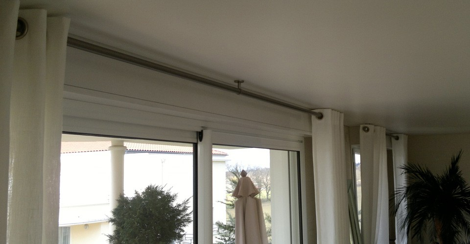 Tringle rail plafond - Rail rideau plafond ...